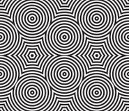 Materia textil circular psicodélica blanco y negro stock de ilustración