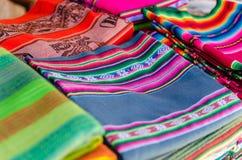 Materia textil coloreada Imagenes de archivo