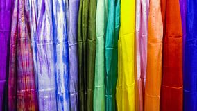 Materia textil coloreada de la textura como el arco iris libre illustration