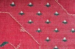 Materia textil coloreada texturizada fondo rojo verde de la pintura Fotografía de archivo libre de regalías