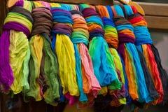 Materia textil colorida Fotos de archivo libres de regalías