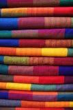 Materia textil colorida de Ecuador Imagen de archivo