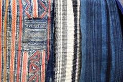 materia textil colorida de la tribu de la colina de Sapa Foto de archivo