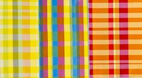 Materia textil colorida de los paños Foto de archivo