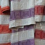Materia textil con el modelo de los cuadrados Fotografía de archivo libre de regalías