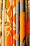 Materia textil contemporánea cobarde de la cortina Imagen de archivo libre de regalías