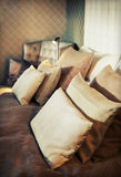 Materia textil de la cama Fotos de archivo