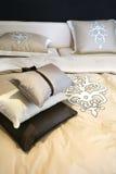 Materia textil de la cama Foto de archivo libre de regalías