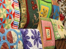 Materia textil de la decoración del hogar de la cubierta de la almohada de la cubierta del amortiguador de la tapicería foto de archivo