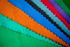 Materia textil de la muestra Fotos de archivo