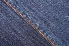 Materia textil de los pantalones vaqueros Foto de archivo libre de regalías