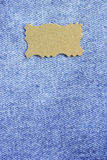 Materia textil de los tejanos Fotos de archivo