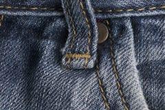 Materia textil de los vaqueros en detalles Imagenes de archivo