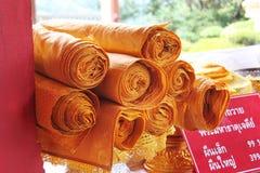 Materia textil de oro Foto de archivo