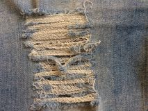 Materia textil de tejanos, la piel facial del dril de algodón fotografía de archivo libre de regalías