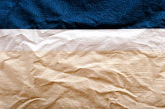 Materia textil de tres colores Fotografía de archivo