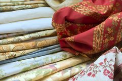 Materia textil de Venecia imagenes de archivo