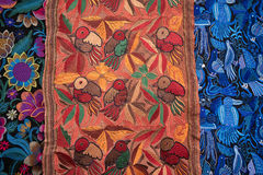 Materia textil decorativa hecha a mano del artesano Fotos de archivo
