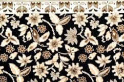 Materia textil del modelo y del batik stock de ilustración