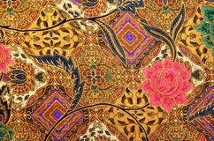 Materia textil del modelo y del batik ilustración del vector