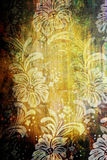 Materia textil floral de la vendimia imágenes de archivo libres de regalías