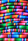 Materia textil guatemalteca colorida en Chichicastenango Imagen de archivo
