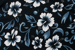 Materia textil inconsútil de la tela de la flor del hibisco Fotografía de archivo libre de regalías