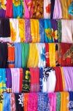 Materia textil mexicana colorida imagenes de archivo