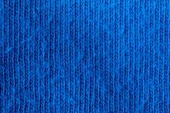 Materia textil natural azul Foto de archivo