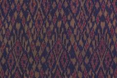 Materia textil que teje de seda generalmente tailandesa Fotografía de archivo