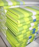 Materia textil verde Imagen de archivo
