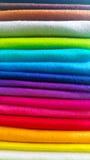 Materia textil y material coloridos del arte Fotos de archivo libres de regalías