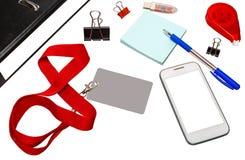 Materiały dla biznesu Fotografia Stock