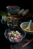 Materiały jajeczne kluchy dla wiosna festiwalu Chiny Fotografia Stock