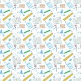Materiały szkolny bezszwowy deseniowy kolor Fotografia Royalty Free