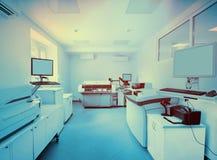 Materiaal en apparaten voor biochemie in een modern laboratorium royalty-vrije stock afbeelding