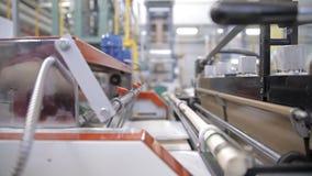 Materiaal op een fabriek stock footage
