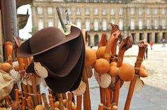 Materiaal van de Pelgrim, Camino DE Santiago, Manier aan Santiago Stock Fotografie