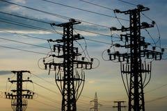 Materiaal van een hoogspanning van elektrische netwerken Royalty-vrije Stock Fotografie