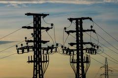 Materiaal van een hoogspanning van elektrische netwerken Stock Fotografie