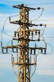 Materiaal van een hoogspanning van elektrische netwerken Stock Foto's
