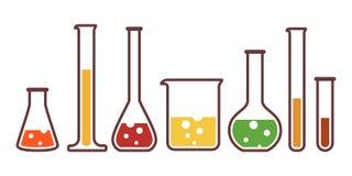 Materiaal voor chemisch laboratorium Stock Afbeelding