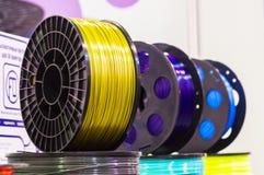 Materiaal voor 3D druk Stock Afbeeldingen