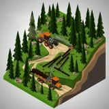 Materiaal voor de bosbouwindustrie Royalty-vrije Stock Afbeeldingen