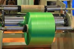 Materiaal voor vervaardigings plastic zakken royalty-vrije stock fotografie