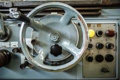 Materiaalcontrole van draaibankmachine Royalty-vrije Stock Foto