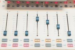 Materiaaldek van mixer Royalty-vrije Stock Foto