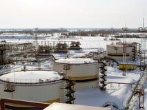 Materiaalolievelden van Westelijk Siberië Stock Foto