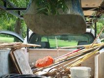 Materiaalvrachtwagen van Parkarbeiders Royalty-vrije Stock Foto's