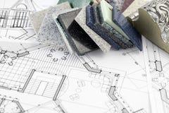 Materiais arquitectónicos Imagens de Stock Royalty Free